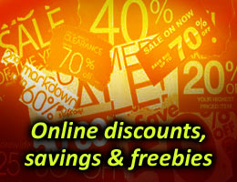 Discount codes, savings and freebies