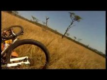 Mountain Biker gets taken out by BUCK - CRAZY Footage - Only in Africa