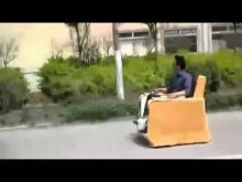 Very funny Couch driving on road